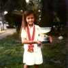 1991-mo-with-junior-world-japan-cup-trophy-in-moms-frontyard